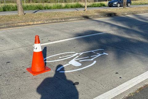 Seguimos con nuestro plan de señalización en todo el país para informar sobre el derecho del uso de la bicicleta en las calles de Panamá.